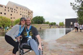 D and I after the Memorial. Such a privilege to have her willing to push me this year.